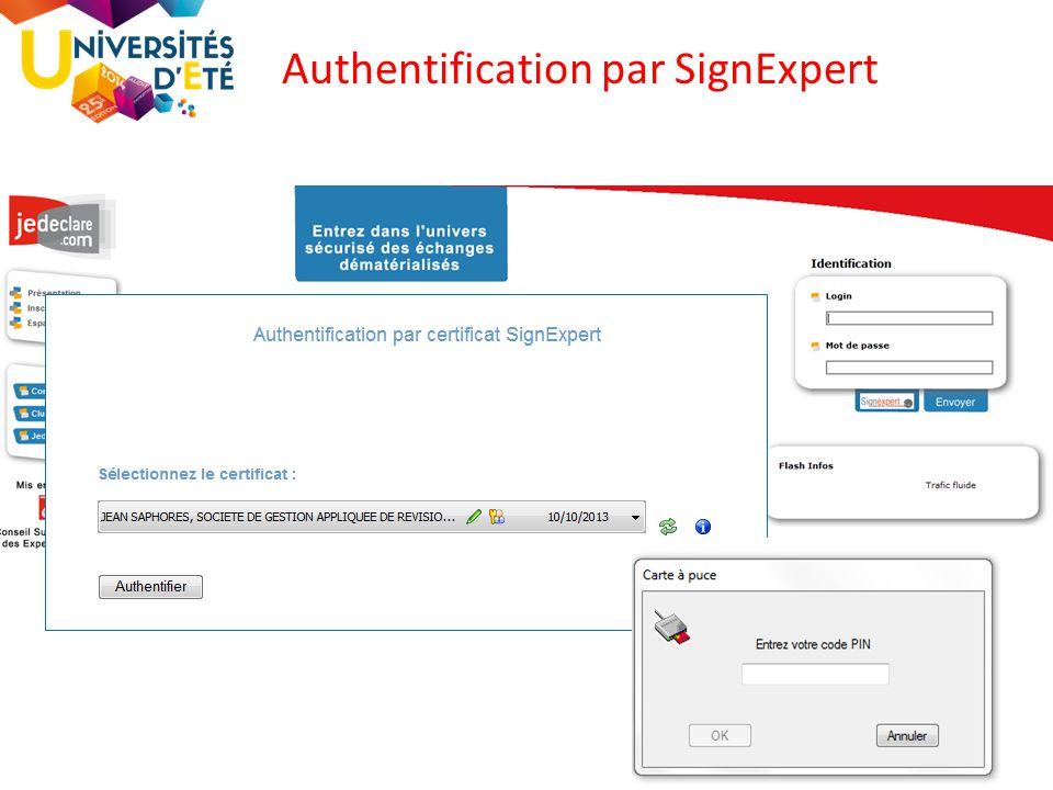 Authentification par SignExpert