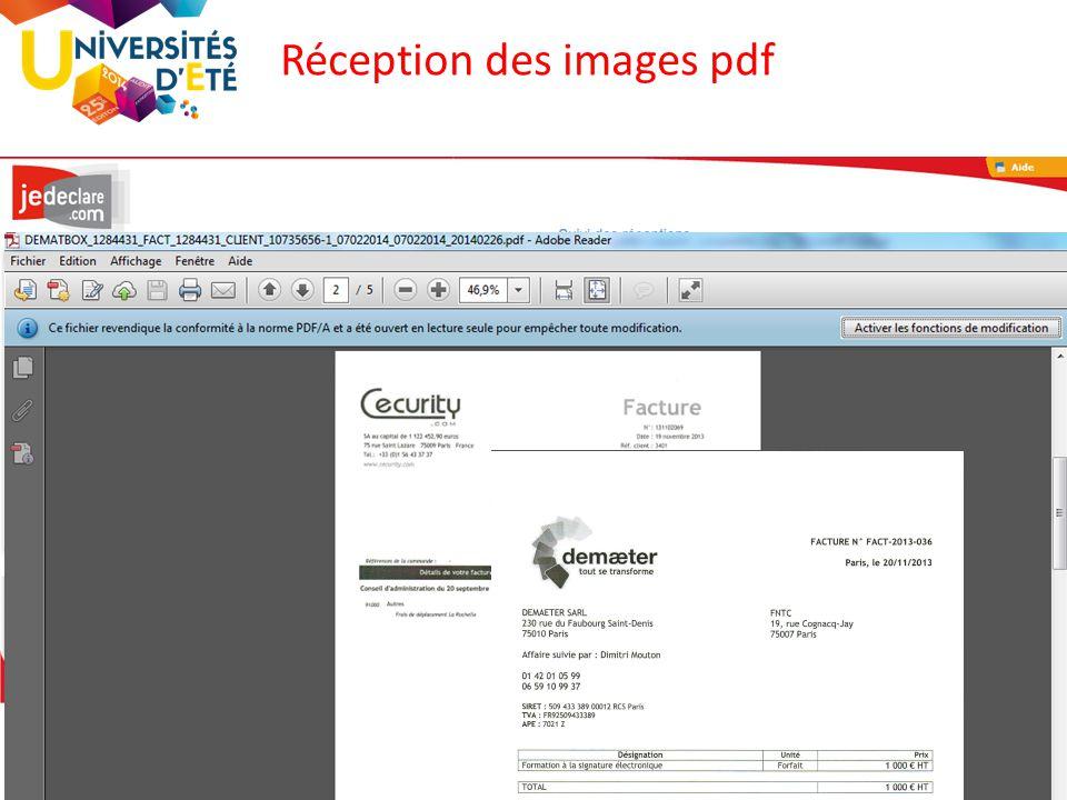 Réception des images pdf