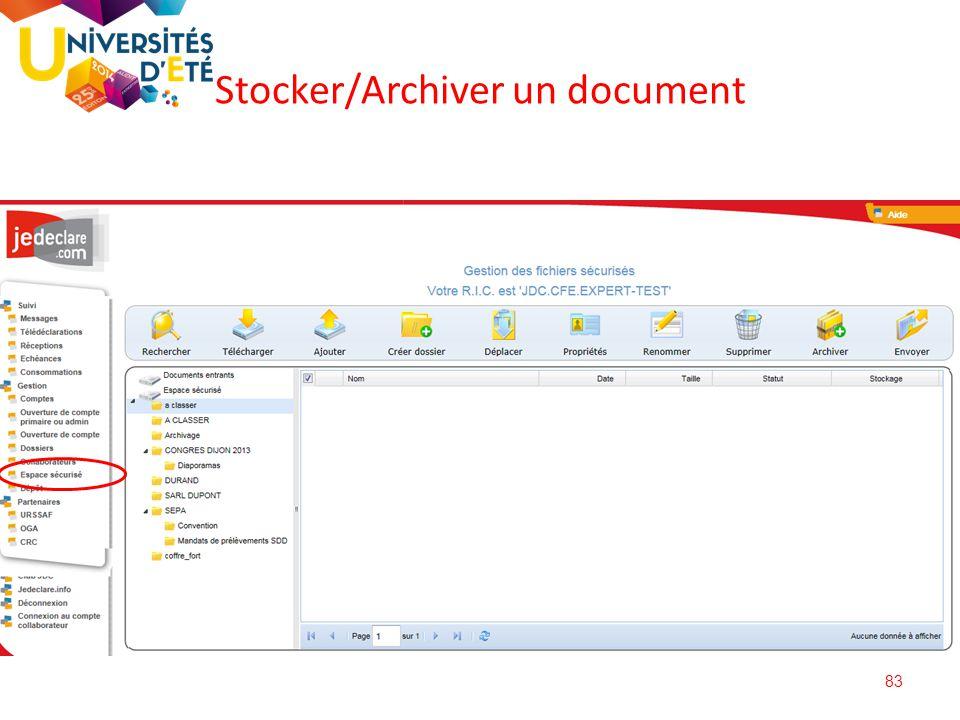 Stocker/Archiver un document