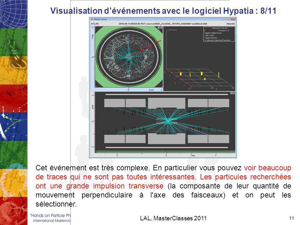 Visualisation d'événements avec le logiciel Hypatia : 8/11
