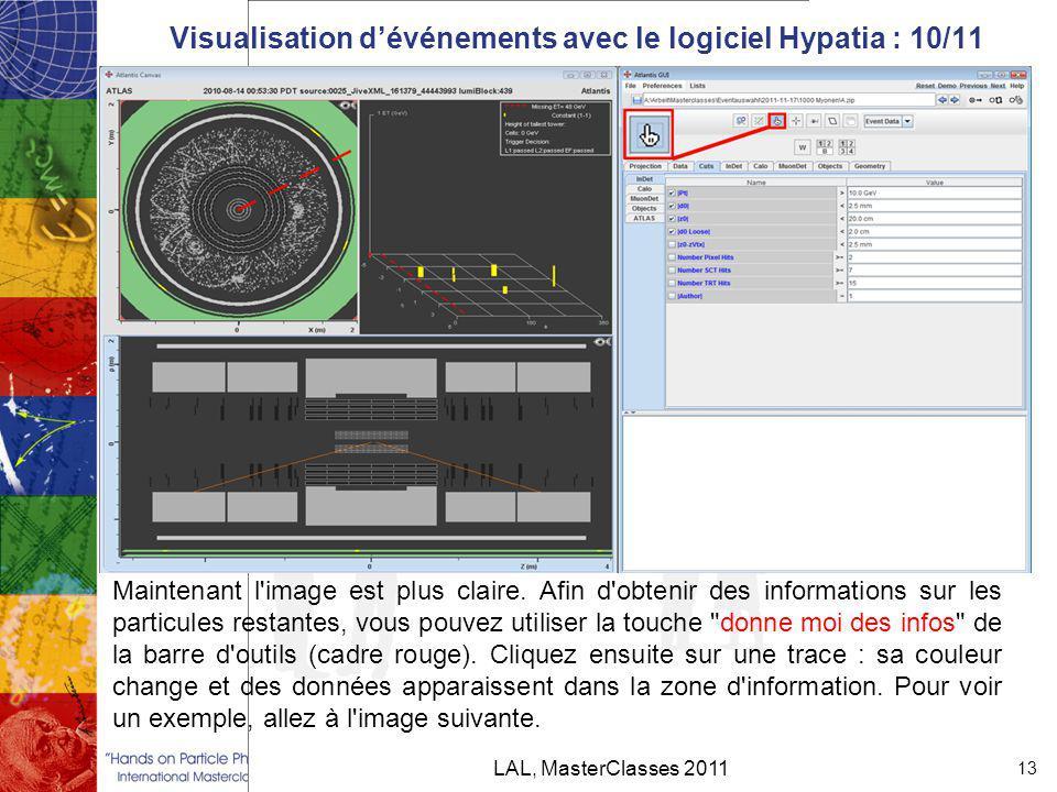 Visualisation d'événements avec le logiciel Hypatia : 10/11