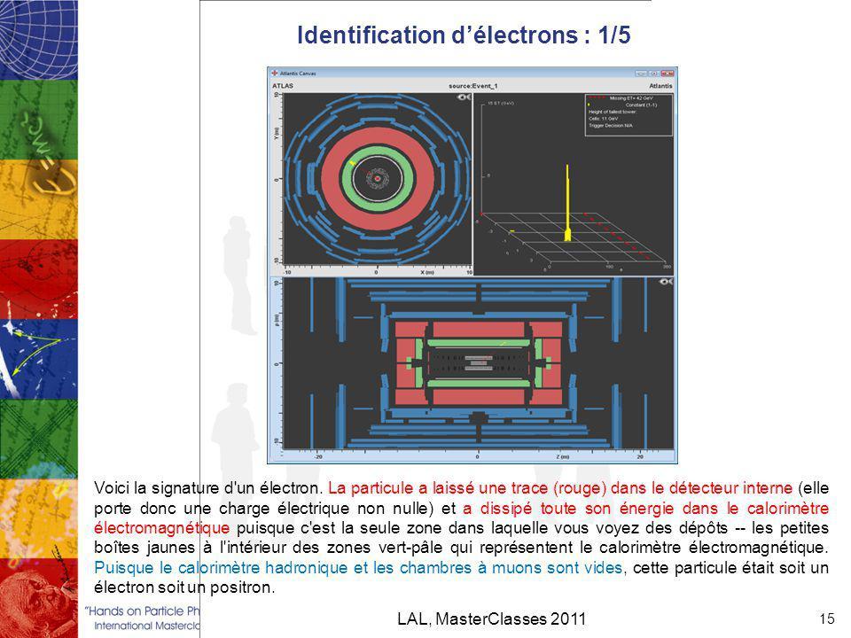 Identification d'électrons : 1/5