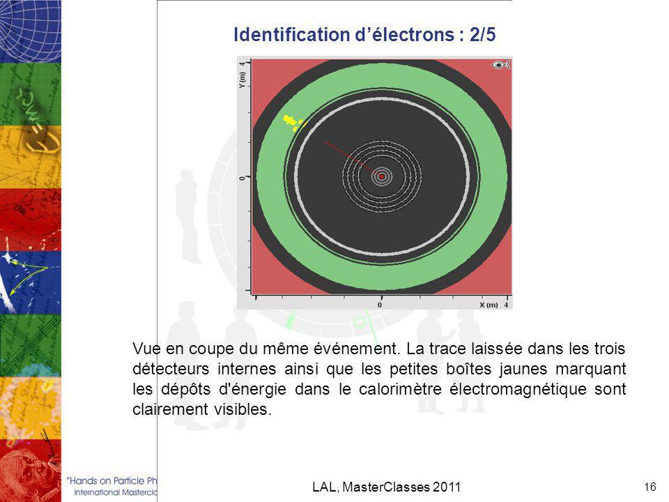 Identification d'électrons : 2/5