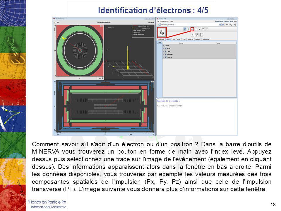 Identification d'électrons : 4/5