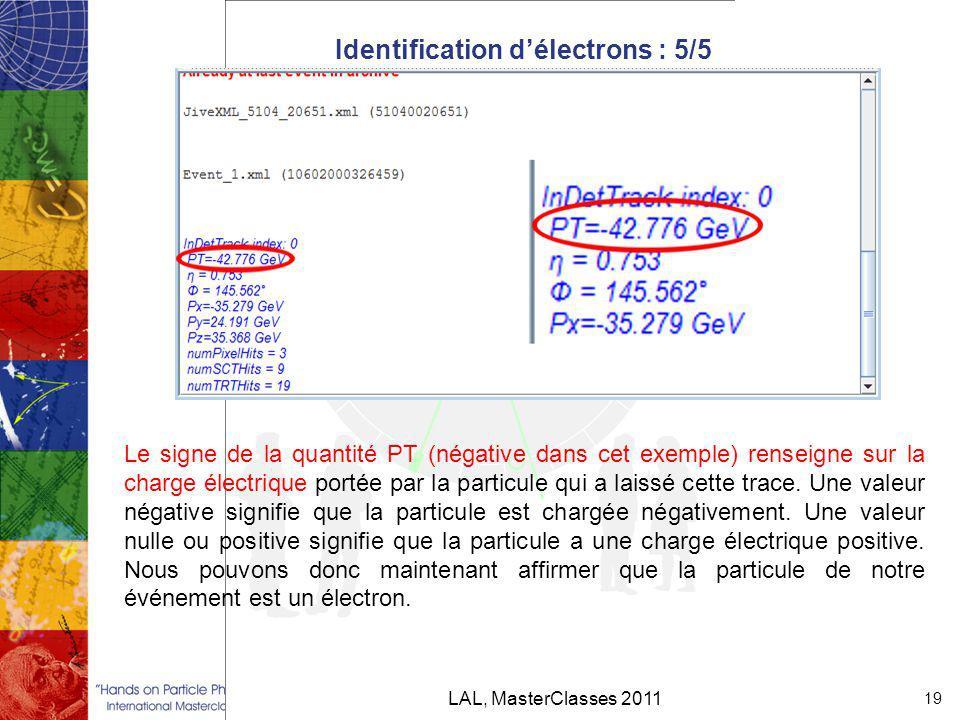 Identification d'électrons : 5/5