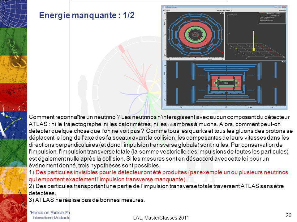 Energie manquante : 1/2