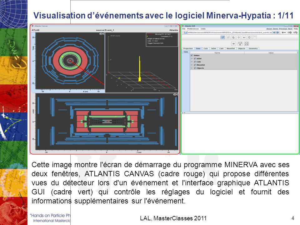 Visualisation d'événements avec le logiciel Minerva-Hypatia : 1/11