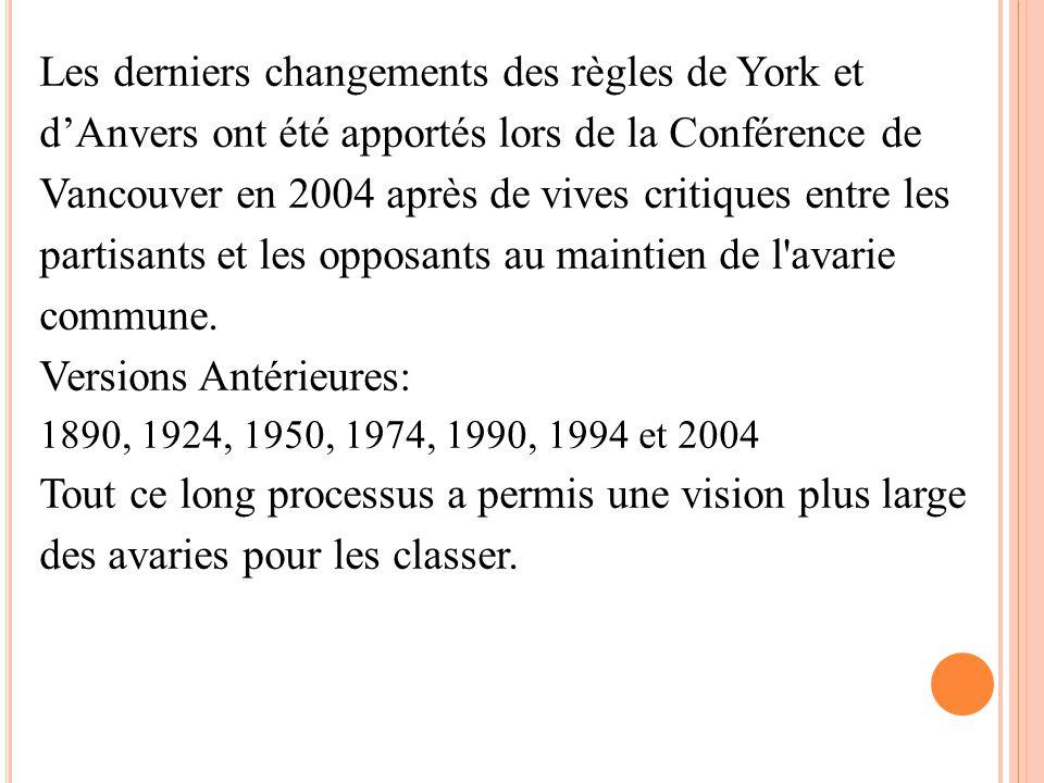 Les derniers changements des règles de York et