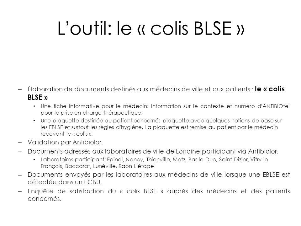 L'outil: le « colis BLSE »