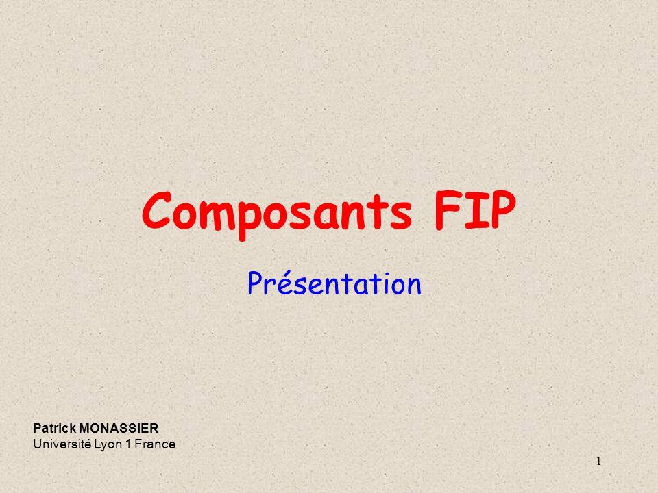 Composants FIP Présentation Patrick MONASSIER Université Lyon 1 France