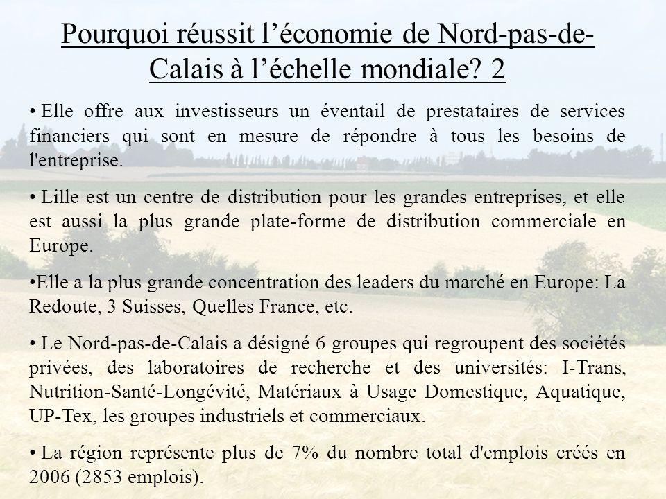 Pourquoi réussit l'économie de Nord-pas-de-Calais à l'échelle mondiale