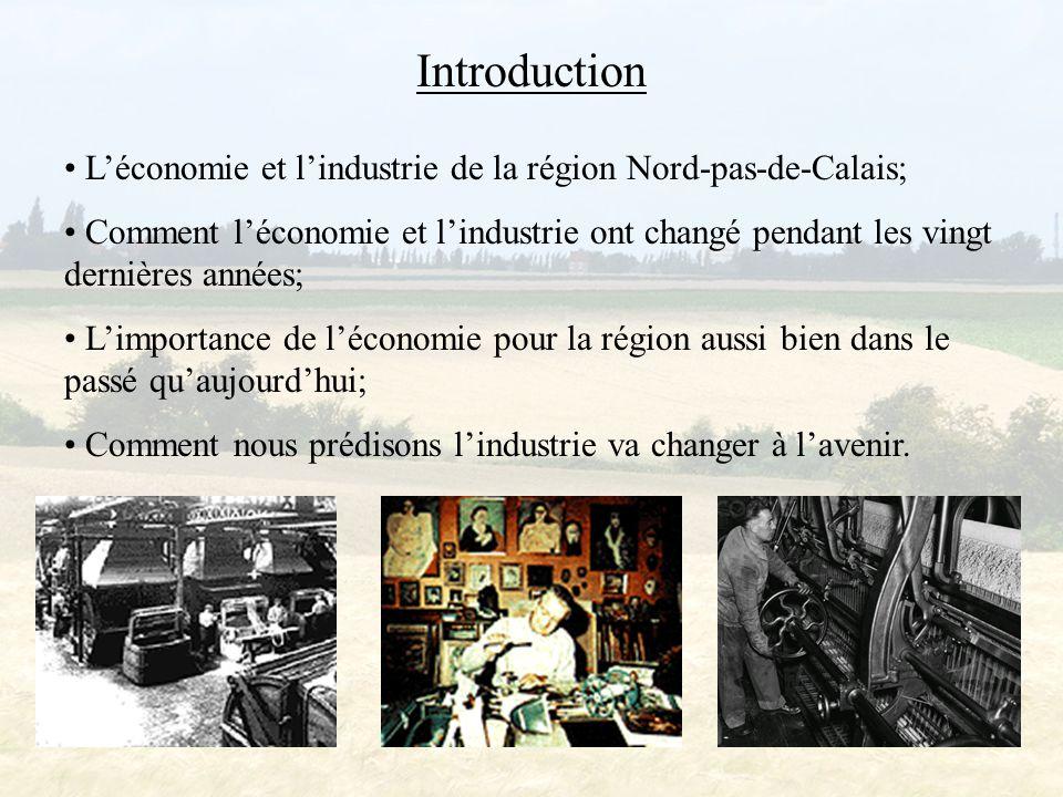 Introduction L'économie et l'industrie de la région Nord-pas-de-Calais;