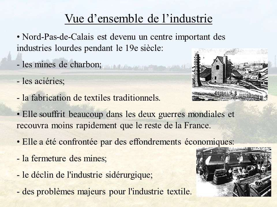 Vue d'ensemble de l'industrie