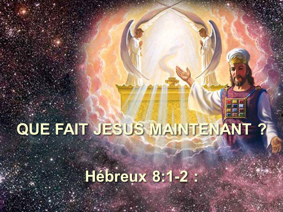 QUE FAIT JESUS MAINTENANT