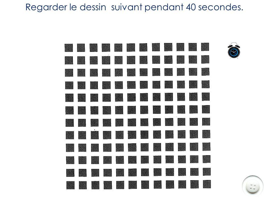 Regarder le dessin suivant pendant 40 secondes.