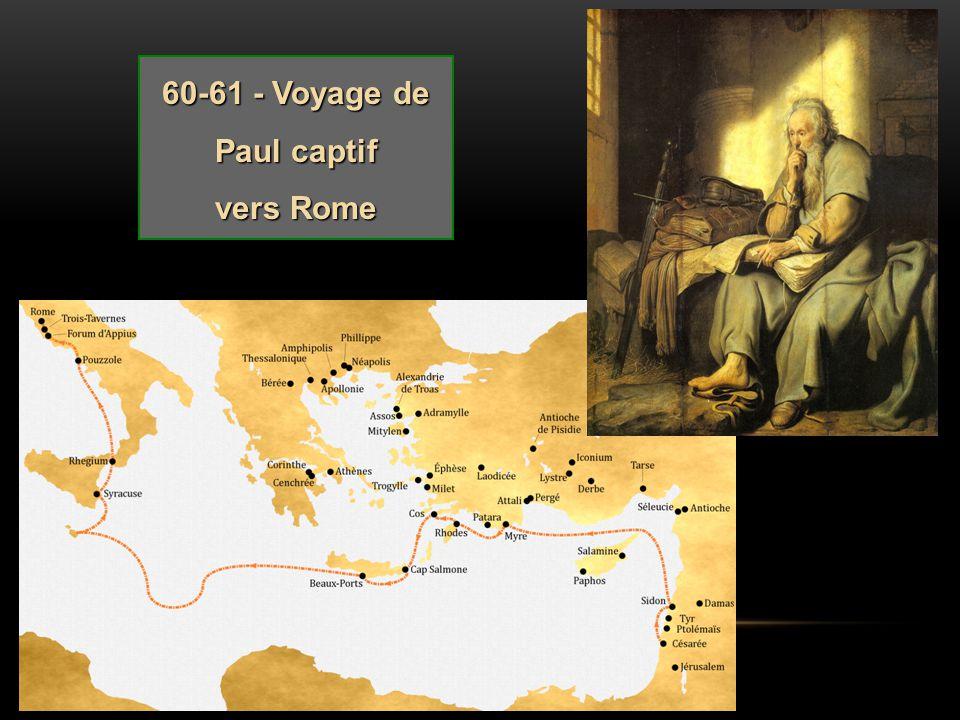 60-61 - Voyage de Paul captif vers Rome
