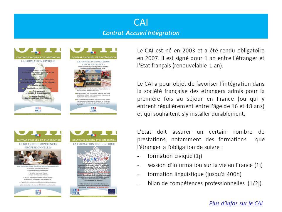 CAI Contrat Accueil Intégration