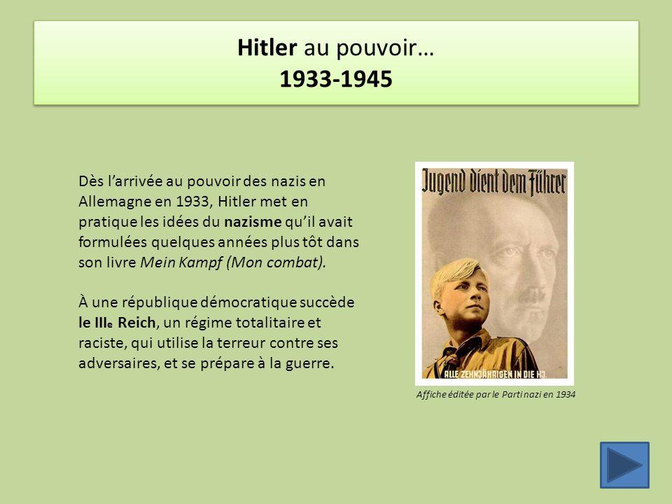 Hitler au pouvoir… 1933-1945