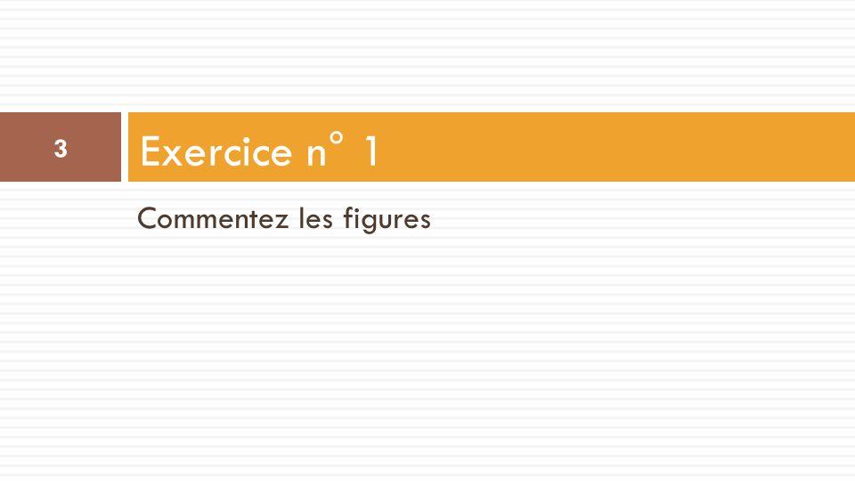 Exercice n° 1 Commentez les figures