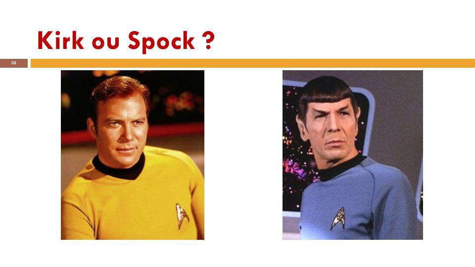Kirk ou Spock