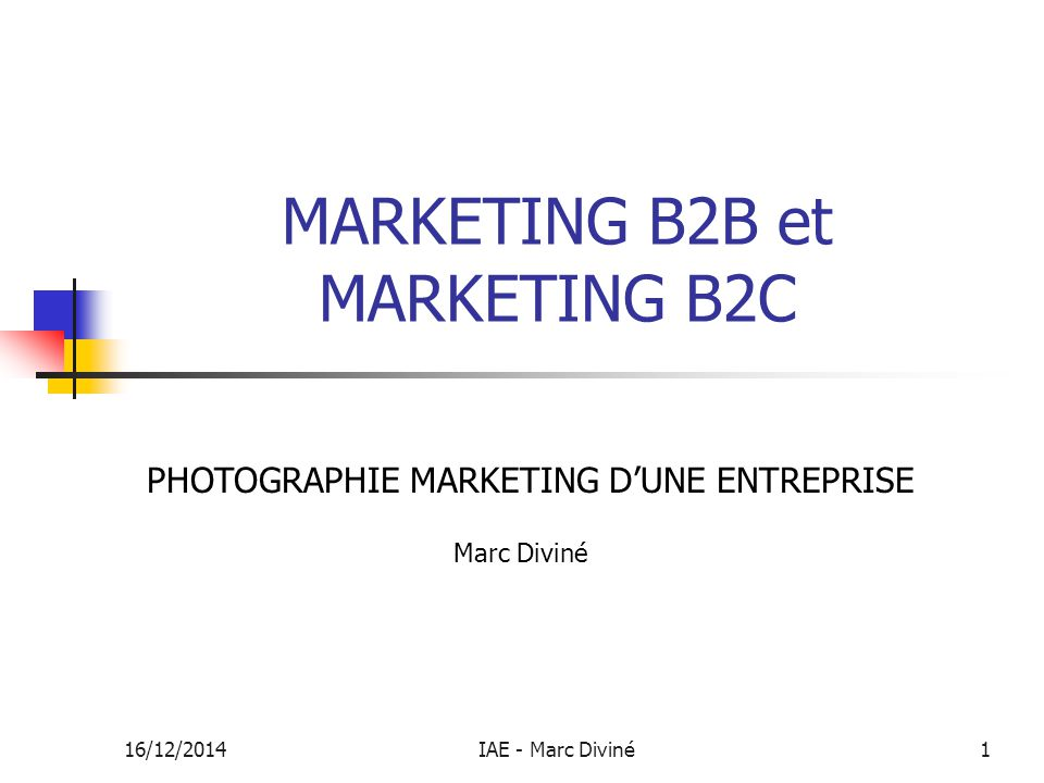 MARKETING B2B et MARKETING B2C