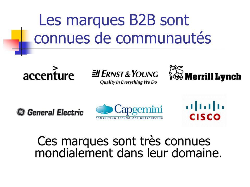Les marques B2B sont connues de communautés