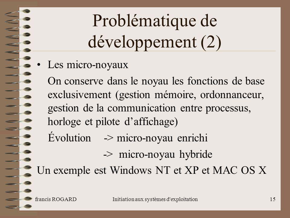 Problématique de développement (2)
