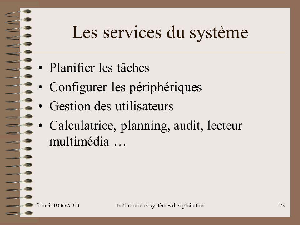 Les services du système