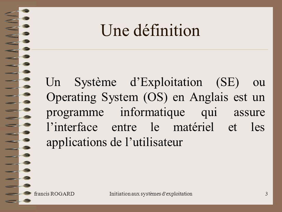 Initiation aux systèmes d exploitation