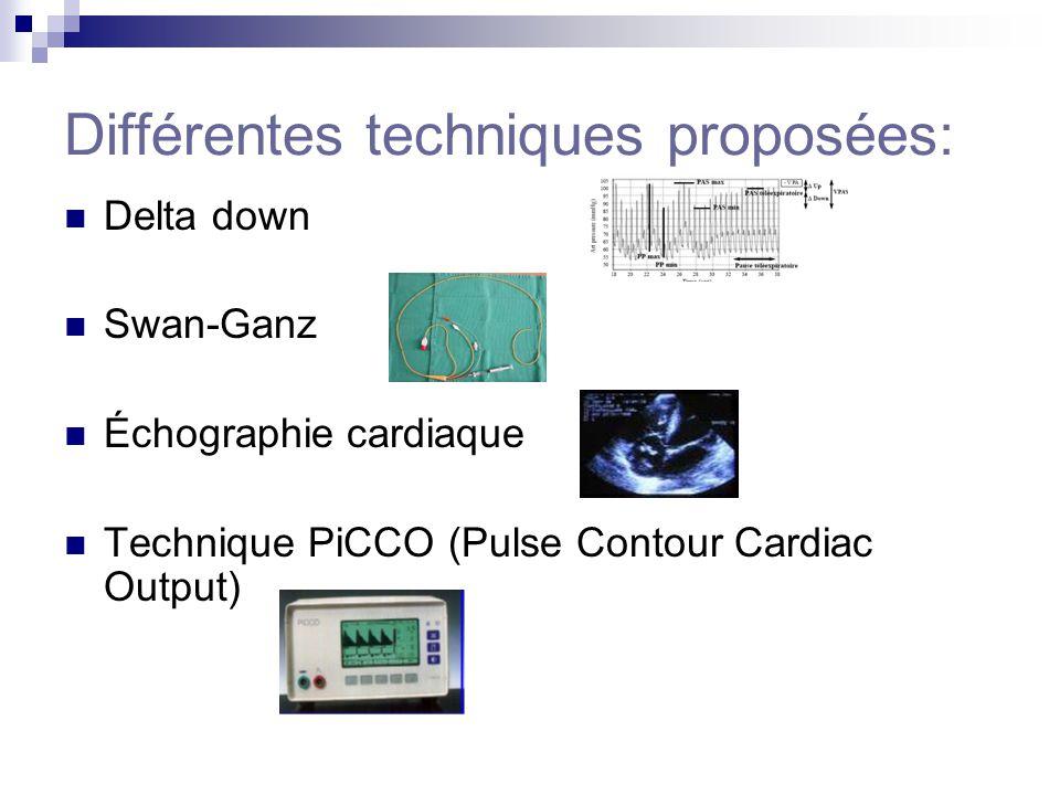 Différentes techniques proposées: