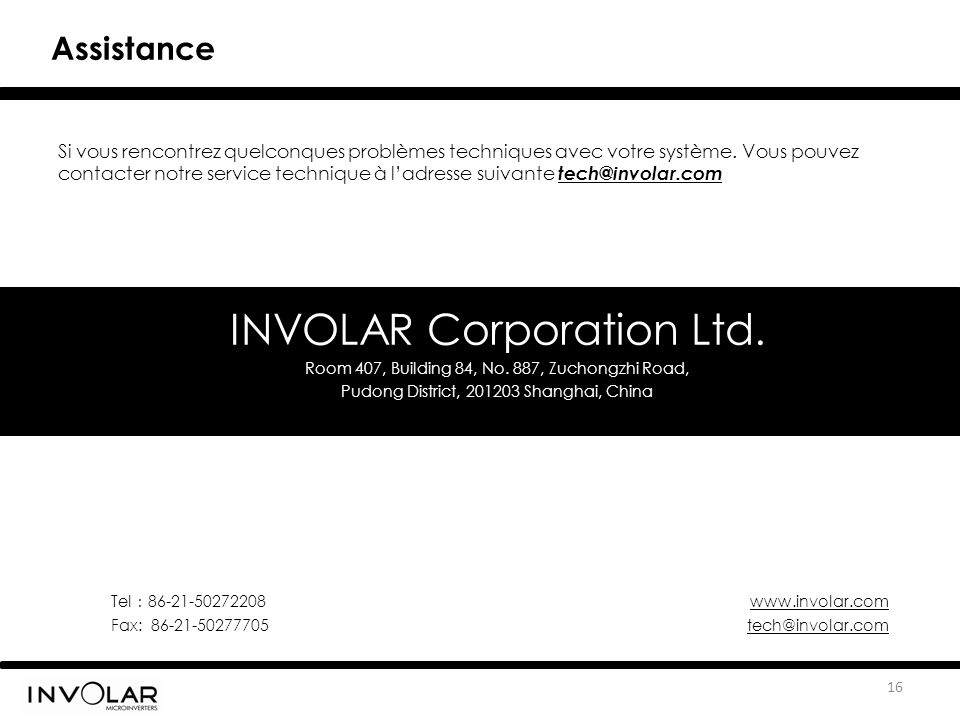 INVOLAR Corporation Ltd.