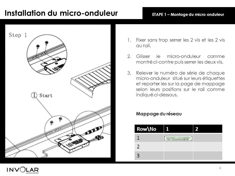 Installation du micro-onduleur