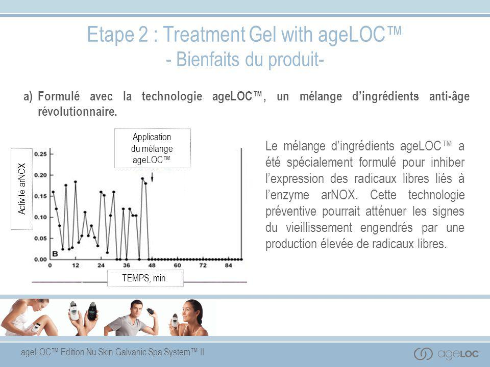 Etape 2 : Treatment Gel with ageLOC™