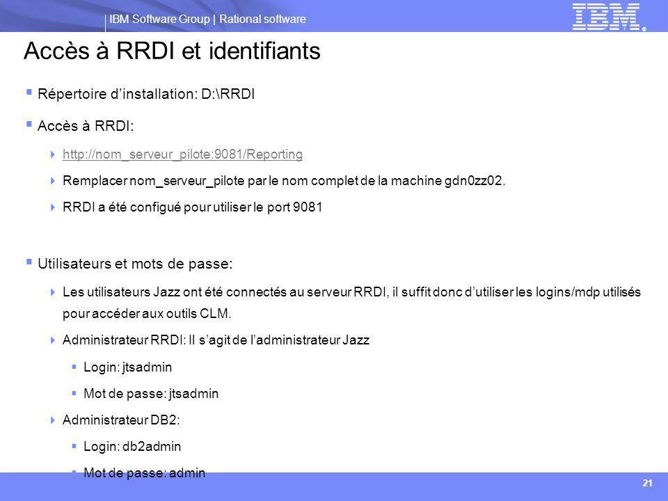 Accès à RRDI et identifiants