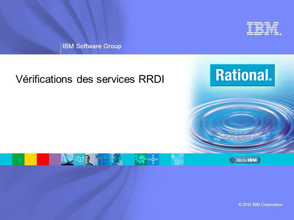 Vérifications des services RRDI