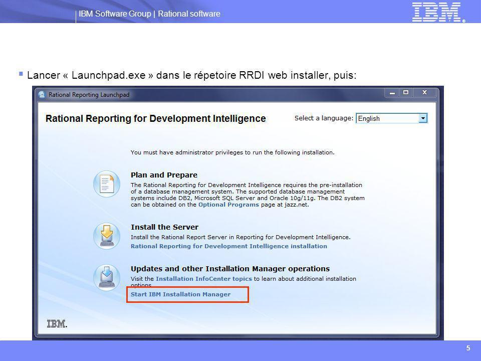Lancer « Launchpad.exe » dans le répetoire RRDI web installer, puis: