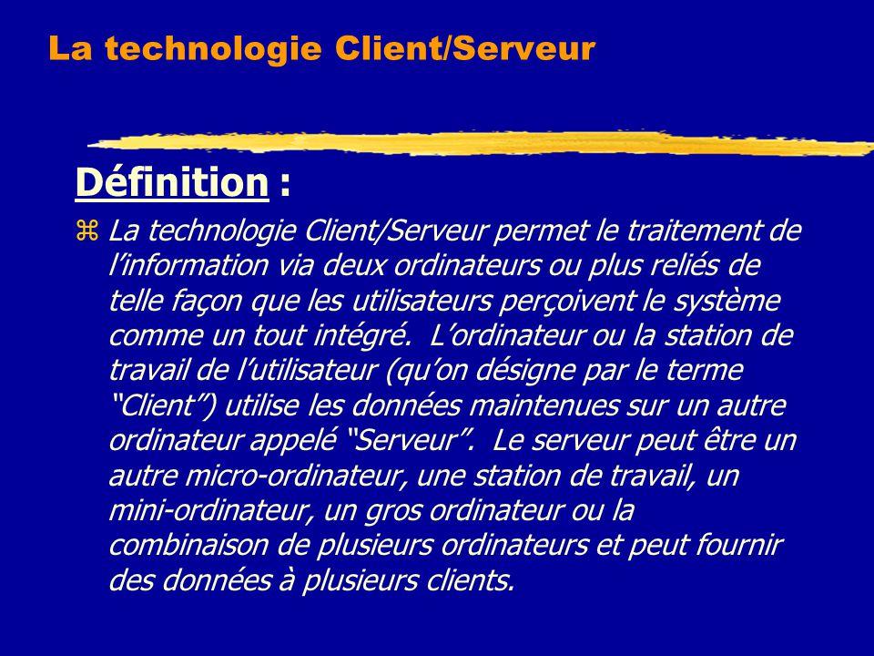 La technologie Client/Serveur
