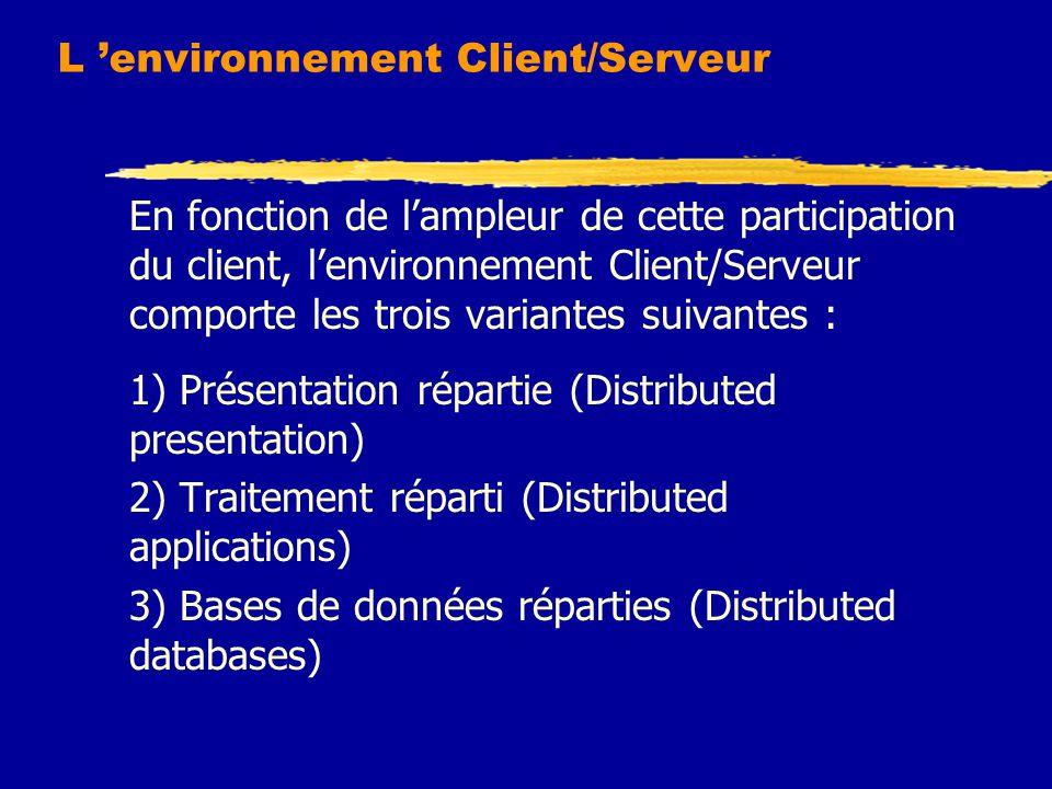 L 'environnement Client/Serveur