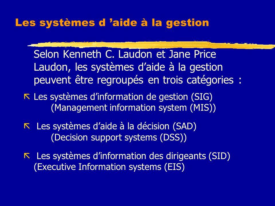 Les systèmes d 'aide à la gestion