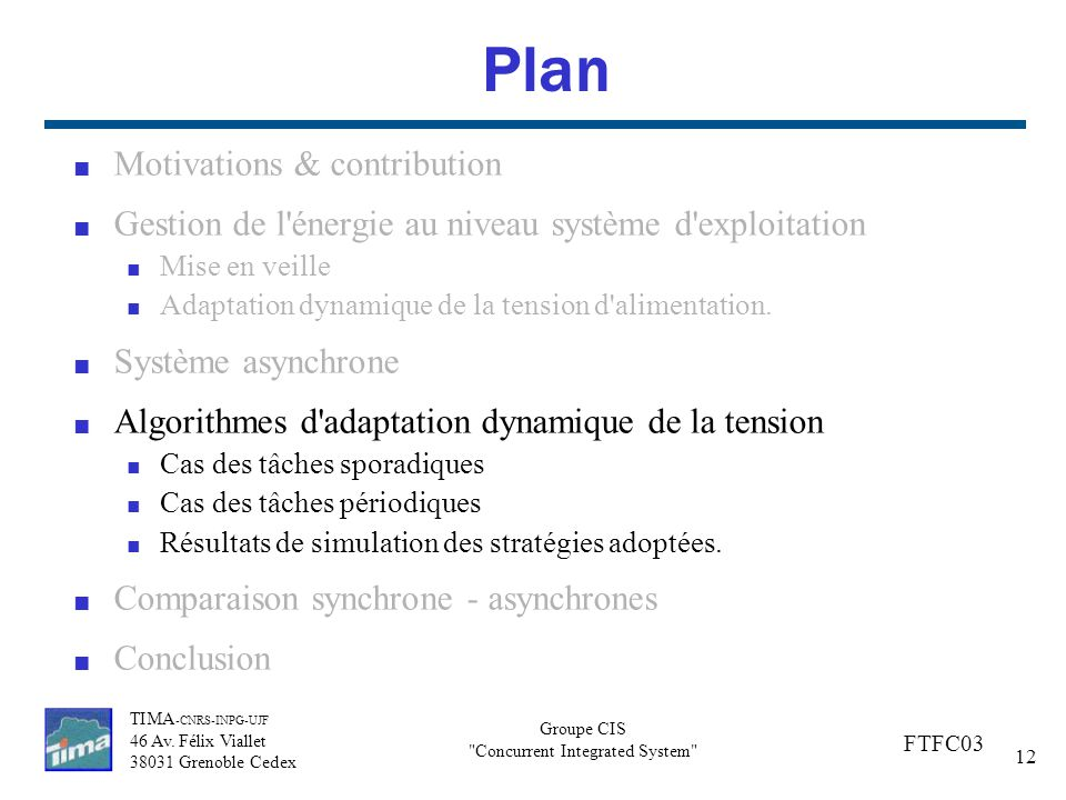 Plan Motivations & contribution