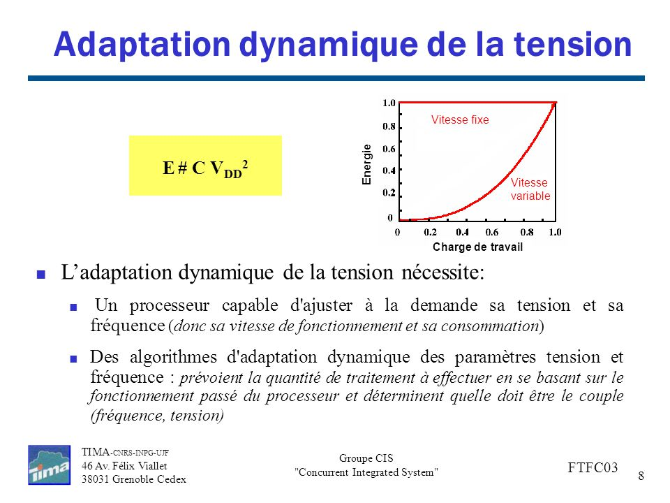 Adaptation dynamique de la tension