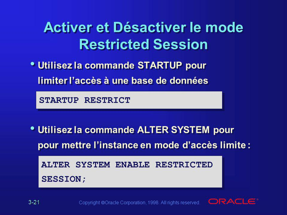 Activer et Désactiver le mode Restricted Session