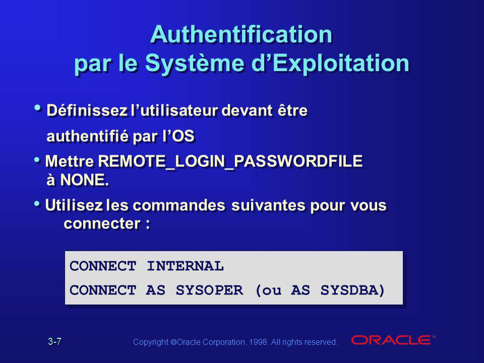 Authentification par le Système d'Exploitation