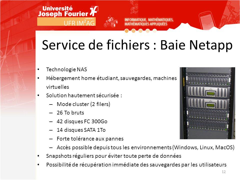 Service de fichiers : Baie Netapp