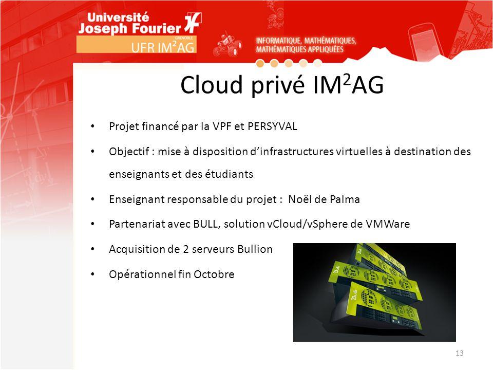 Cloud privé IM2AG Projet financé par la VPF et PERSYVAL