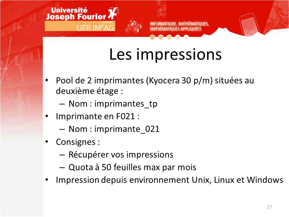 Les impressions Pool de 2 imprimantes (Kyocera 30 p/m) situées au deuxième étage : Nom : imprimantes_tp.
