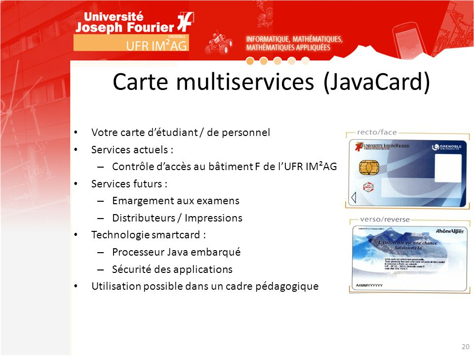 Carte multiservices (JavaCard)