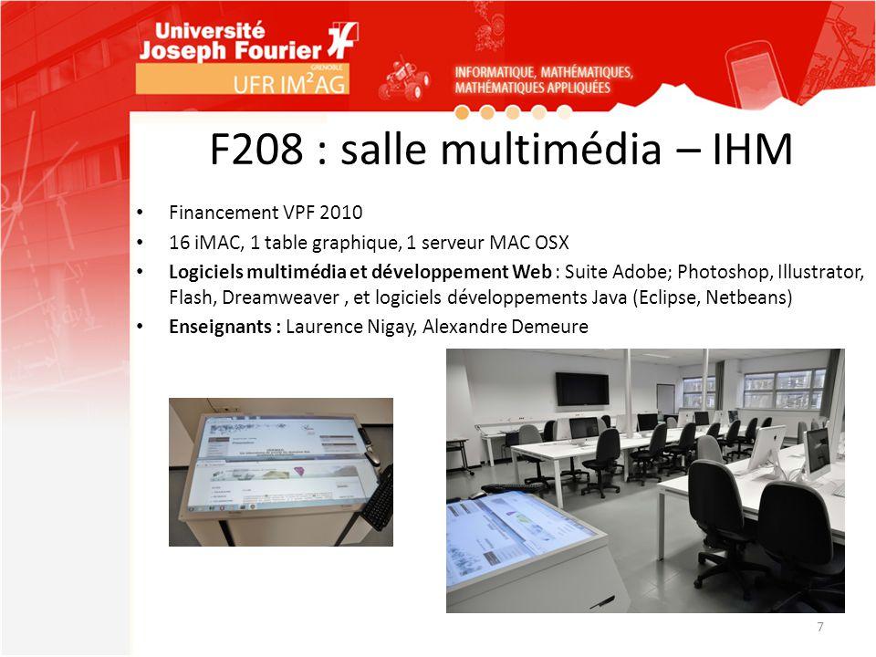 F208 : salle multimédia – IHM