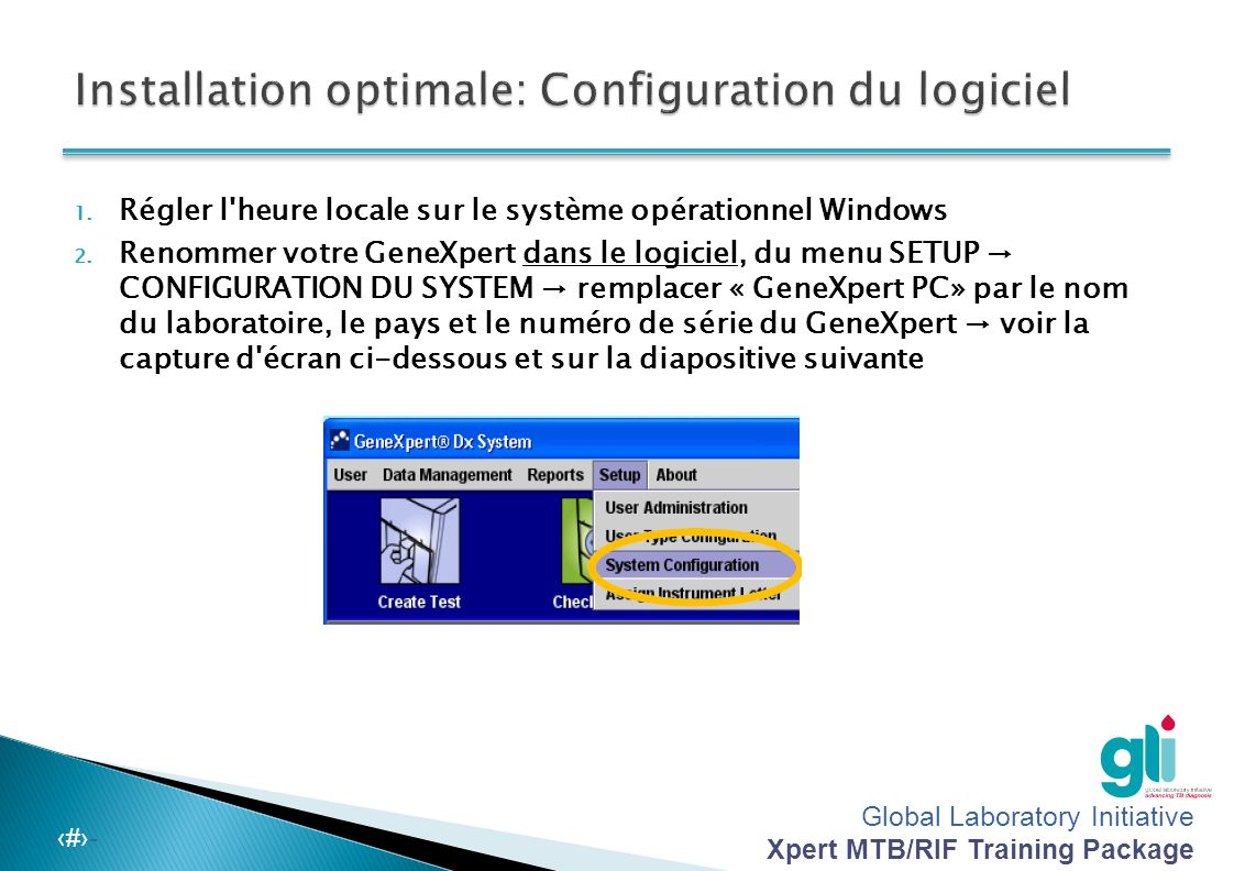 Installation optimale: Configuration du logiciel