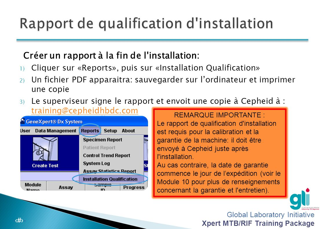 Rapport de qualification d installation